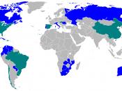 Parmalat in the world: in blue directed presence, in green presence under licenze Français : Parmalat dans le monde: en bleue présence directe, en verte présence par licence