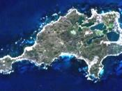 This is a map of the Rottnest Island, Western Australia.