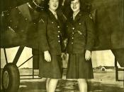Peggy (Kackmeister) Manternach  in WACS circa 1944