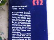 Deutsch: Gedenktafel an Hannah Arendt in Marburg, Lutherstrasse 4
