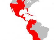 The Spanish American colonies at their maximum extent (after the Peace of Paris, 1783)