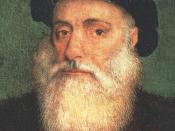 Deutsch: Dom Vasco da Gama, Graf von Vidigueira (* um 1469 in Sines; † 24. Dezember 1524 in Cochin, Indien), portugiesischer Seefahrer