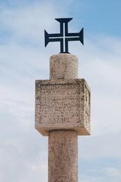 Monument to Vasco da Gama. Nazaré, Portugal