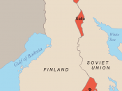 Finnish areas ceded to the Soviet Union due to the Moscow Armistice of 1944 and the Paris Peace Treaties, 1947
