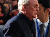 Michael Caine at the European premiere of The Dark Knight
