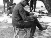 General John J. Pershing, in his Casas Grandes encampment, studies telegraphed orders
