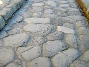 Surface of a roman road in Herculaneum, which was buried by the eruption of mount Vesuvius 79 AD