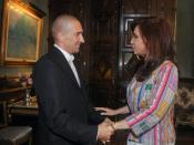 Julio Bocca con la presidenta argentina Cristina Fernandez de Kirchner