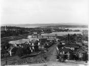 Victoria from cathedral tower, BC, 1897