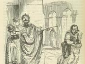 Image by John Leech, from: The Comic History of Rome by Gilbert Abbott A Beckett. Bradbury, Evans & Co, London, 1850s Debtor and Creditor. Seizure of Goods for a Debt