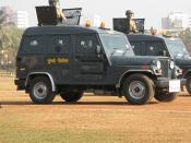 English: Armored Bullet Proof vehicles of the Commando force of the Mumbai Police, India. Photo taken at the Republicday parade in Mumbai