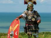English: Centurion (Roman army) historical reenactment Boulogne sur mer (France). Français : Centurion (armée Romaine) Reconstitution historique à Boulogne sur Mer en France.