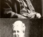 The parents of the composer Edward Elgar, photographed circa 1890-1900. Top: William Elgar (1821-1906); bottom: Ann Elgar (1822-1902)