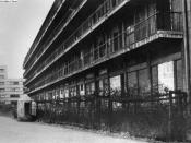 The concentration camp at Drancy, near Paris, where Jews were confined until they were deported to the death camps.