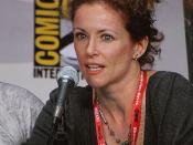 English: The actress Leslie Hope at San Diego Comic-Con International 2011 Italiano: L'attrice Leslie Hope al San Diego Comic-Con International 2011
