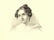 English: Illustration, depicting Catharine Maria Sedgwick from the book Female Prose Writers of America by John Seely Hart.