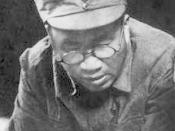 English: Zhu De wearing National Revolutionary Army Emblem.
