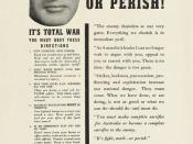 An Australian Government leaflet telling Australians that they must make sacrifices for the war effort. AWM item RC02370