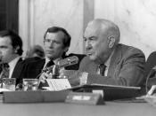 Photo from Senate Watergate hearings.