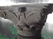 Corinthian pillar of the Ptolemaic period, Egypt.
