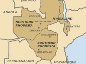 English: Map of the Federation of Rhodesia and Nyasaland. Own work. Link to user page as attribution.
