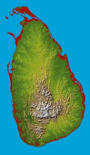 An enlargeable topographic map of Sri Lanka
