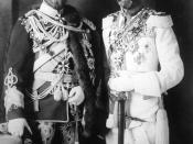 English: Photo of Tsar Nicholas II and King George V in Berlin, 1913