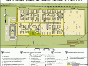 English: map of concentration camp Auschwitz III (Monowitz) as it was at the end of 1944