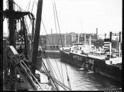 Mitsui O.S.K Line vessel berthed in Pyrmont, 1890-1943