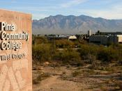 English: Pima Community College West Campus in Tucson, from the corner of Anklam Road and Greasewood Road, looking northeast.