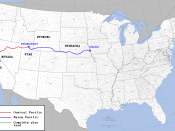 Transcontinental railroad route2