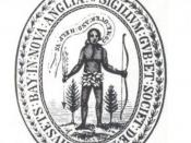 English: Seal of the Massachusetts Bay Colony