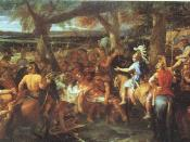A painting by Charles Le Brun depicting Alexander and Porus (Puru) during the Battle of the Hydaspes