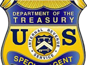 English: United States Internal Revenue Service Criminal Investigation Division Badge