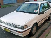 English: 1987–1989 Holden LD Astra SLX hatchback, photographed in Sutherland, New South Wales, Australia.