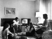Family watching television, c. 1958