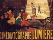thumb|the poster realised as a sand sculpture The poster advertising the Lumière brothers cinematographe, showing a famous comedy (L'Arroseur Arrosé, 1895).