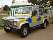 a Sussex Police Land Rover Defender