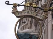 The White Swan - Vauxhall Bridge Road, Pimlico, London - pub sign