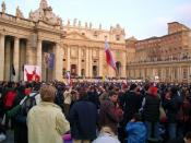 English: Pope John Paul II's funeral. View from the crowd