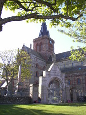 St. Magnus Cathedral in Kirkwall, Scotland.