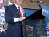 Wesley Clark announces his candidacy on September 17, 2003.