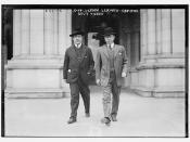 Gov. Glynn leaving Capitol, Sec'y Tierney  (LOC)