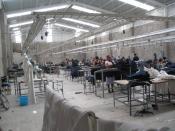 English: A maquiladora-factory in Mexico