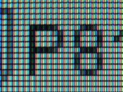 A closeup of pixels.