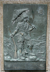 Photo's of Hull Robinson Crusoe monument, in what is now Queen's Gardens, Hull but what would then have been Queens Dock