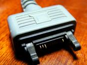 English: A picture of the FastPort male plug on a Sony Ericsson DCU-60 data cable.
