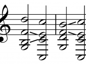 English: Dominant seventh tritone resolution chords