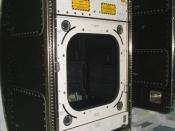 English: Close up image of the Window Observation Research Facility (WORF) Flight rack at Kennedy Space Center.