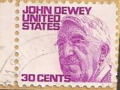 English: 30-cents stamp of the USA figuring american philosopher John Dewey, issued 21 October 1968. Français : Timbre des États-Unis en hommage au philosophe John Dewey, émis le 21 octobre 1968.